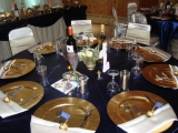 <h5>Wedding in Alpine Cellar</h5><p>Table Setting for a wedding</p>
